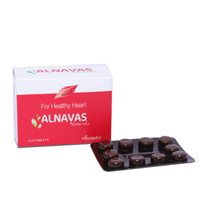 ALNAVEDIC ALNAVAS NATRUAL TABLET FOR CARDIAC AND BLOOD PRESSURE(50 TABLET)