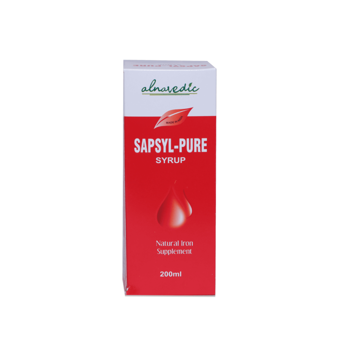ALNAVEDIC SAPSYL PURE SYRUP FOR IRON SUPPLEMENTS (200ML)